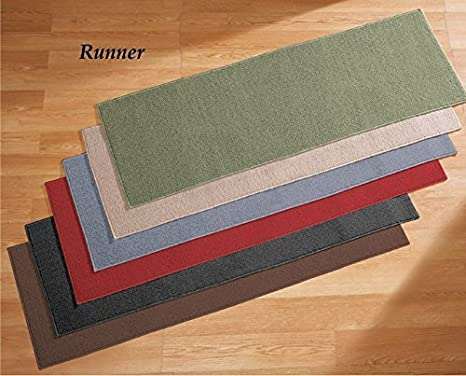 20 X 60 Berber High Traffic Nonslip Runners Home Hall Kitchen Accent Slip Resistant Mat Rug Green