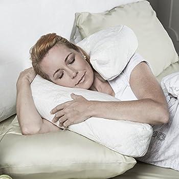 Jaxx Avana Uno Side Sleeper Memory Foam Travel Pillow with Bamboo Cover