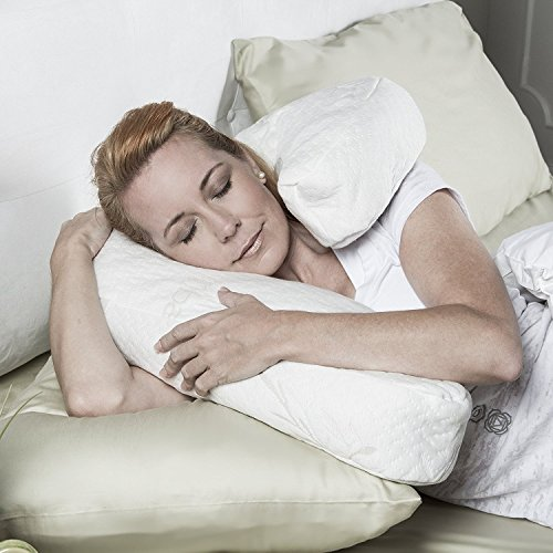 Avana Uno Adjustable Memory Foam Pillow for Side Sleepers, Bamboo Cover