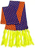 JCP Womens Mens Winter Fashion Scarf 100% Acrylic 85'' x 5.5'' Purple Orange Yellow