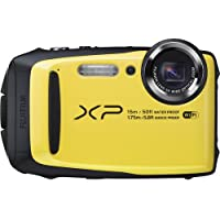 Fujifilm FinePix XP90 Waterproof Digital Camera (Yellow) (International Model) No Warranty