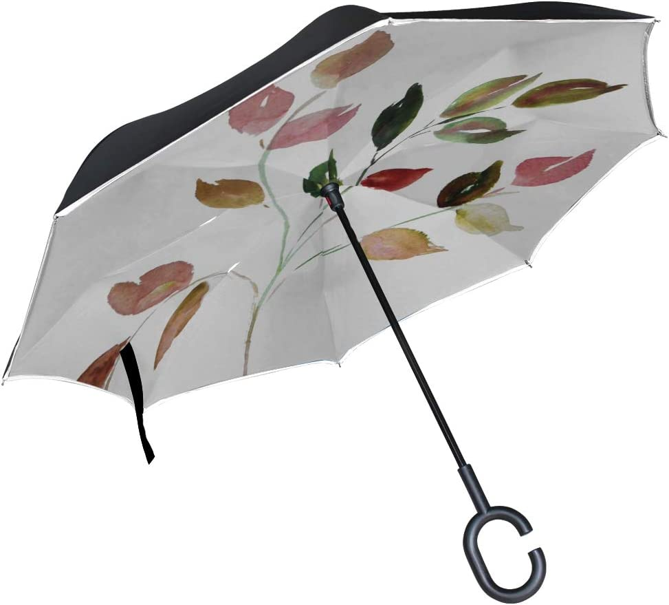 Double Layer Inverted Inverted Umbrella Is Light And Sturdy Lobster Isolated Reverse Umbrella And Windproof Umbrella Edge Night Reflection