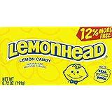 Lemonhead Lemon Candy Theatre Boxes 6.72 Oz (2 Boxes)