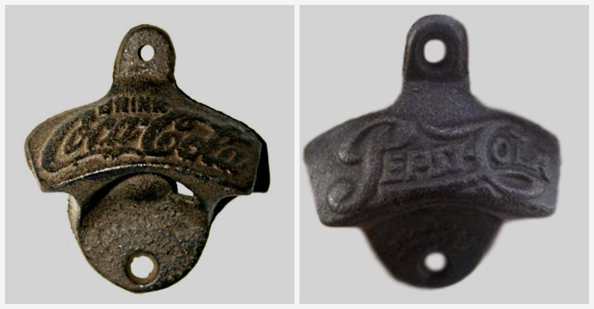 Wall Mounted Cast Iron Rustic Antique collectable beer Soda Bottle Opener