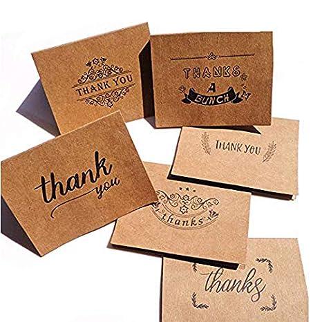 Amazon.com: Tarjetas de agradecimiento, 36 unidades de 6 ...