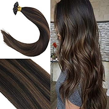 Amazoncom Youngsee 18inch Keratin U Tip Extensions Fusion Human