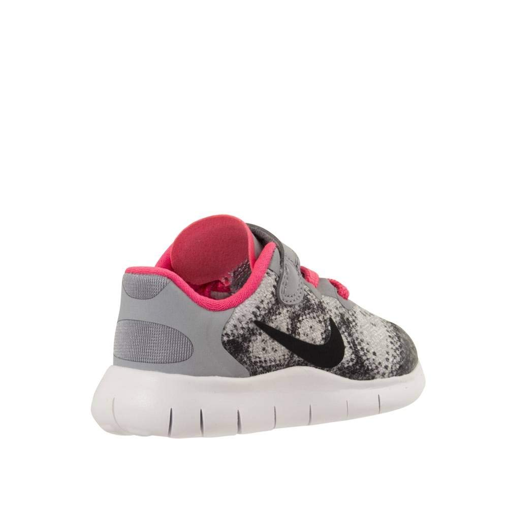 Size - 10 Nike Kids Free RN 2017 Infant//Toddler Wolf Grey//Black//Racer Pink//White Girls Shoes
