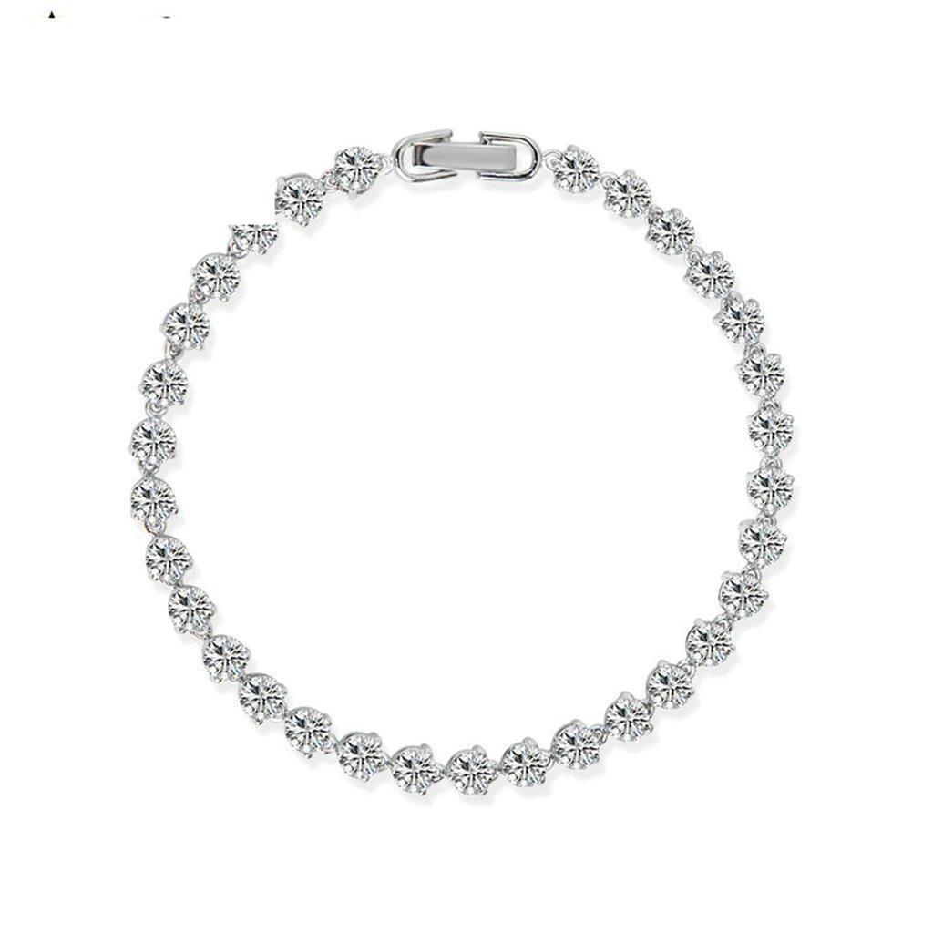 Aooaz Gold Plated Bracelet Women Girl 3-Prong Round Bangle Bracelet Wedding Valentines Gift