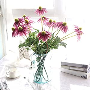 YJYdada Artificial Fake Flowers Aster Chrysanthemum Floral Wedding Bouquet Party Decor (Purple) 86