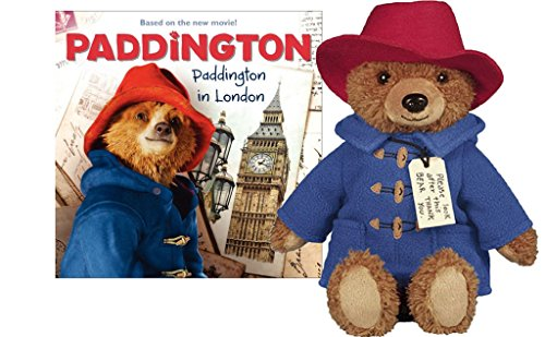Paddington Bear Movie Teddy Bear with Paddington in London Book - Paddington Bear Teddy