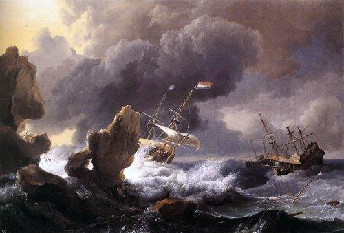 Ludolf Backhuysen A Ship in Distress off a Rocky Coast - 18