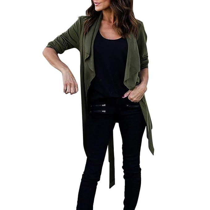 Abrigos para Mujer Chaqueta Outwear Abrigo de Invierno Faux Leather Slim Suit Blazer Top Mujeres Chaqueta de Abrigo Outwear Tops Parka Casual Suelta (Color ...