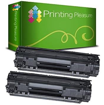 Printing Pleasure Tóner Compatible con HP Laserjet Pro P1010 P1102 P1102W M1130 M1132 M1136 M1210 M1212 M1213 M1217 Canon LBP-6000 LBP-6000B LBP-6020 ...