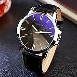 YAZOLE 332 Fashion Simple Style Business Men Wrist Watch Leather Quartz Watch