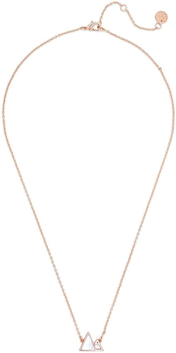 Pura Vida Silver or Rose Gold Gem Mountain Necklace, Brass Base - 18 Inches