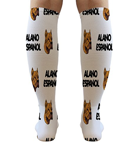 Funny Knee High Socks Alano Espanol Dog Breed Style A Tube Women & Men 1 Size 6