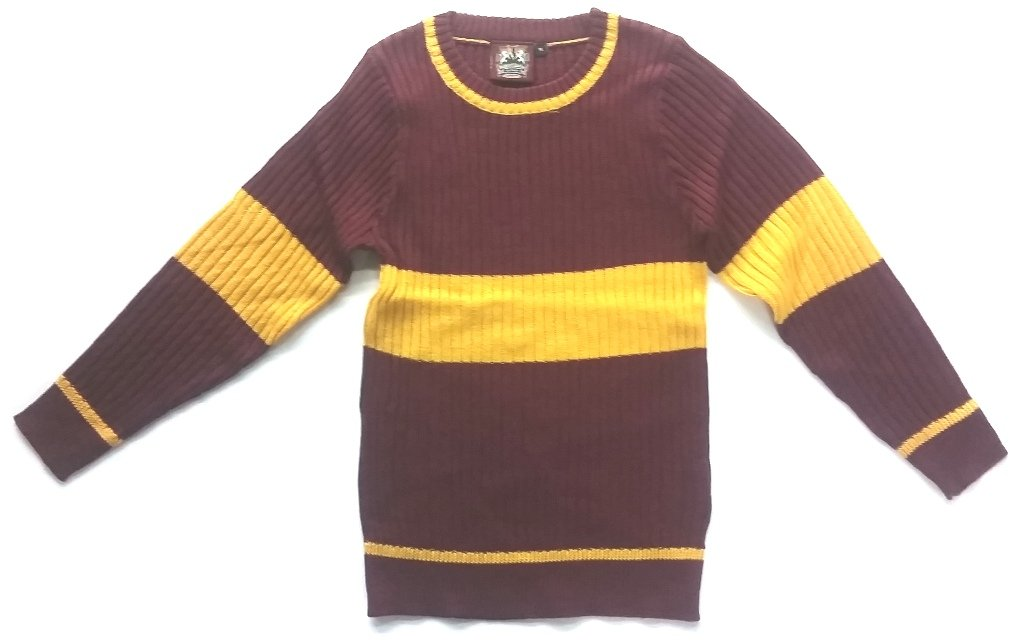 Harry Potter Deluxe Womens Gryffindor Sweater Habber & Dasher Discontinued - SIZE - MEDIUM