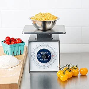 """Edlund MSR-2000 OP 2000 Gram Stainless Steel Metric Portion Scale with Oversized 7"""" x 8 3/4"""" Platform"""