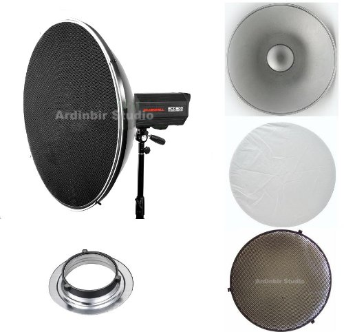 Ardinbir Studio 16'' 41cm Beauty Dish Reflector Honeycomb Grid & Diffuser Set for Bowens type Monolight including Visico, Mettle, Fancier, Calumet Flash Strobe Light by Ardinbir Studio