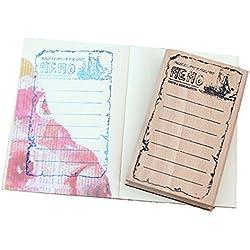 Layhome Wooden Stamp Scrapbooking Plan Memo Hand Account 113x69x20mm (Memo)
