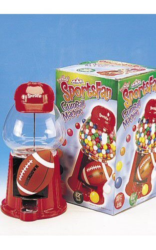 Sports Fan Gumball Machine - Football