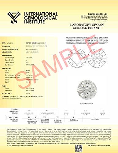 IGI Lab Created Diamond Engagement Ring 3/4 CTW 14K White Gold