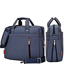 YiYiNoe Shoulder Bag for 17 inch Laptop Business Briefcase Waterproof Messenger Bags Blue