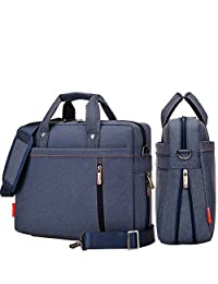 YiYiNoe Shoulder Bag for 17 inch Laptop Business Briefcase Waterproof Messenger Bags Blue
