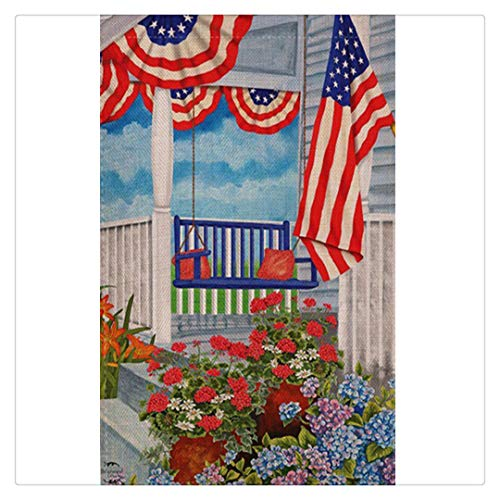 Hstore Full Drill Diamond Painting by Number Kits, USA Flag Festive Independence Themed Symbols of Freedom 4th of July 5D Embroidery Cross Stitch Arts Home Wall Decor 12x16 Inches