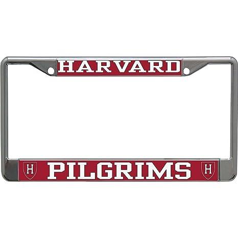 Amazon.com : Harvard Crimson Metal License Plate Frame w/Domed ...
