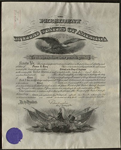 - President William H. Taft - Military Appointment Signed 09/21/1909 with co-signers