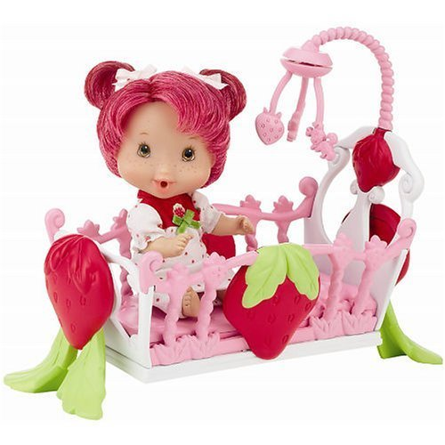 PlayMates Berry Lil' Babies Strawberry Shortcake Sleepy Time - Baby Doll Berry Strawberry Shortcake