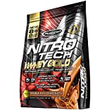 MuscleTech NitroTech 100% Whey Gold, Whey Isolate & Peptides, Double Rich Chocolate, 8 Pound