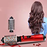 Hair Hot Air Brush Multi Function Electric Dryer Brush Straightener & Curler Brush Salon-Style Curling Iron Tools Wenniu