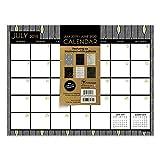 Black White and Gold Mini Desk Pad Wall 2020 Calendar: July 2019 - June 2020 (Academic Year Desktop Calendar, Planning Blotter)
