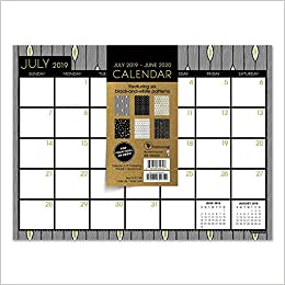 Games For Gold June 2020.Black White And Gold Mini Desk Pad Wall 2020 Calendar July