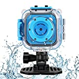 Waterproof Kids Camera, GAKOV GACD WiFi 1080P 2MP Kids Action Camera 20M Waterproof Video Digital Children Camera HD Sports Camera Camcorder for Boys Girls