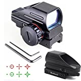 Holographic Red and Green Dot Sight Tactical Reflex 4 Different Reticles
