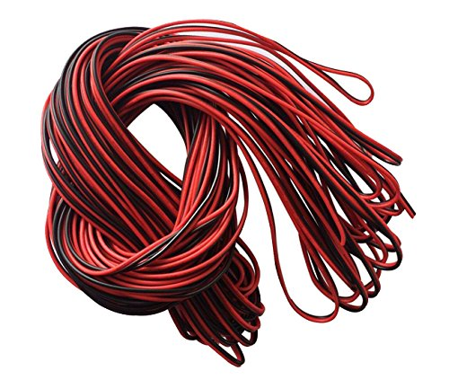 82ft 20awg Extension Cable Wire Cord for 3528 5050 Single Color Led Strips (20 Awg Leads)