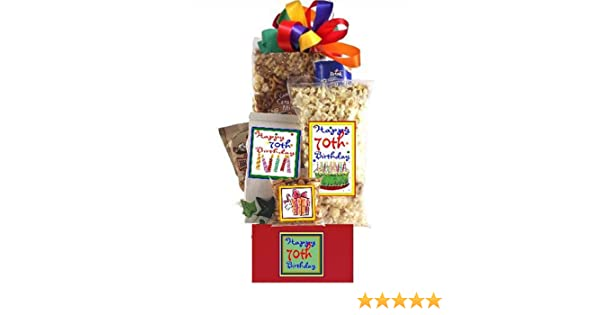 Amazon Happy 70th Birthday Gift Basket Gourmet Snacks And Hors Doeuvres Gifts Grocery Food