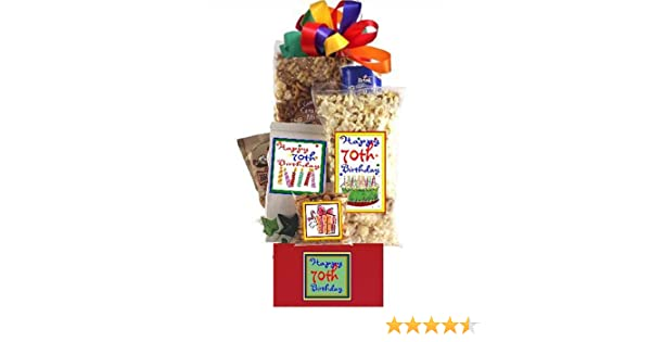 Amazon 70th Birthday Gift Basket Party Gourmet Snacks And Hors Doeuvres Gifts Grocery Food