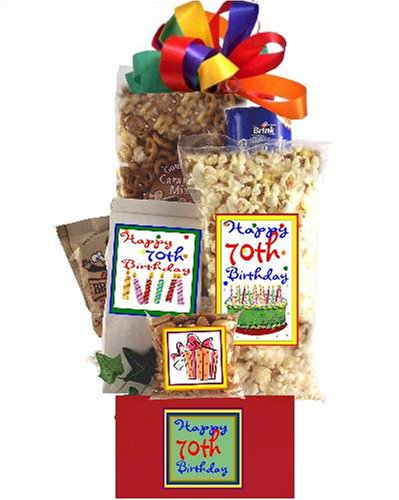 70th Birthday Gift Basket Party (Popcorn Factory Gifts Birthday)
