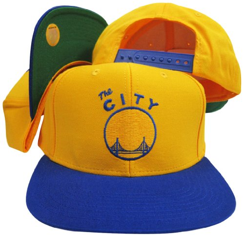 Golden State Warriors Yellow/Blue The City Adjustable Vintage Snapback Cap]()