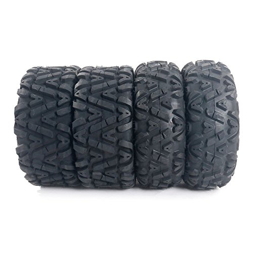 Set of 4 ATV/UTV Tires 25x8-12 Front & 25x10-12 Rear 6PLY Fit For Yamaha Big Bear 400 YFM400F 4x4 2004-2006 (Bear 400 2003 Yamaha Big Tires)