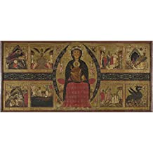 The Polyster Canvas Of Oil Painting 'Margarito Of Arezzo The Virgin And Child Enthroned With Narrative Scenes ' ,size: 16 X 34 Inch / 41 X 87 Cm ,this High Quality Art Decorative Canvas Prints Is Fit For Kitchen Artwork And Home Decor And Gifts