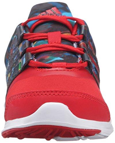adidas Boys' Hyperfast 2.0 k Running AQ3892 Black/Collegiate Red/White