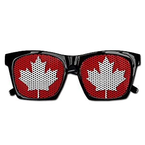 TyYJ Canada Maple Leaf Fashionable Visual Mesh Lens Sunglasses Resin Frame Eyewear Party Favor Gifts