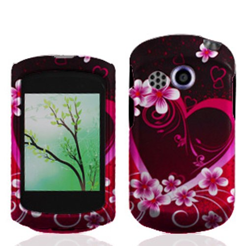 Bundle Accessory For At&T Pantech Swift P6020 - Purple Heart Hard Case Protective Cover + Lf Stylus Pen + Lf Screen Wiper