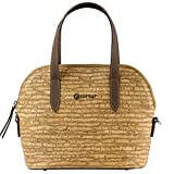 Corkor Top Handle Handbag Tote Small 9 to 5 Crossbody Cork Bag Satchel Natural Zebra