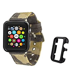 Apple Watch Case PC Hard Protective Bumper Case Premium Scratch Resistant and Shockproof Cover For iWatch Series 1/Series 2 (42 Black Case)